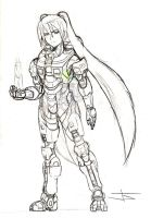 Miku Chief Sketch by ArtinScott