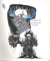 Concept for Grimdark Tavros by OuranBleachVamps