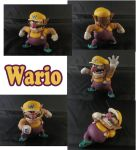 Wario Sculpture: Collage by ClayPita