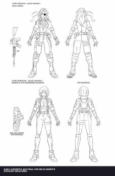 Cyper Operative Figure Concept art by neurowing