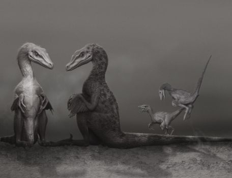 Velociraptor Family Values by ADigitalArtist