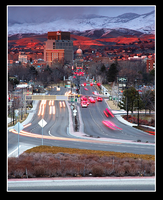 Looking Down Capitol in Boise by narmansk8