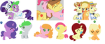 MLP Shipping Set:4 OPEN by Spider-Adopts