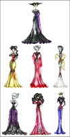 Disney Villain Fashion by AlirizaDesign