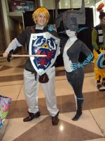 NYCC '11: Link and Midna by PanicPagoda