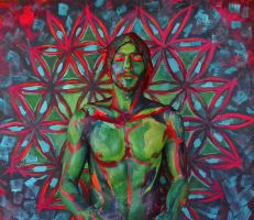 Bodypainting - Flower of life by mihepu