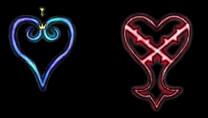KH and Heartless symbols by Jakerei