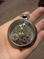 steampunk pocket watch by akume-no-kame