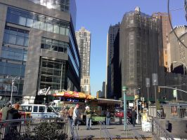New York View Down a Street by Rayleighev