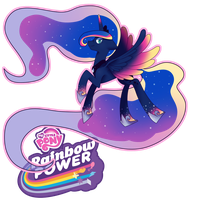 Rainbow Powered Luna by KMWolf