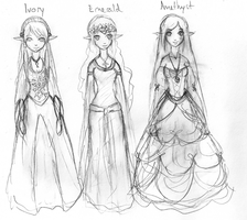 Elven Princesses by Venus-Ironhawk