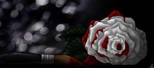 Painting roses.. Comission. by SpasmofantenReturns