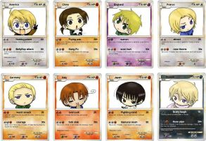 APH- My hetalia pokemon cards by Americaa