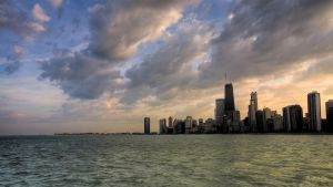 chicago skyline by Morgadu