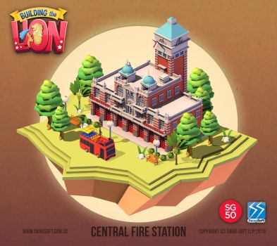 Building the Lion - Central Fire Station by nigelhimself