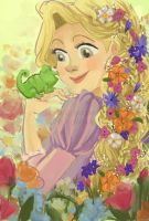 Rapunzel in Bloom by YaneYing