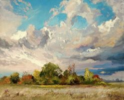Landscape with clouds by Dreamnr9