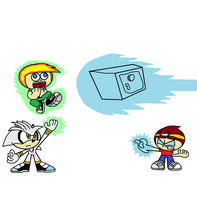 Jimmy and Silver VS. Johnny by thekirbykrisis