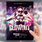 Glow Out Party Flyer by sorengfx