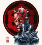 Darth Maul Commissioned Painting by Erik-Maell