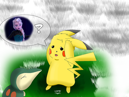 Elsa's Pikachu - Did you see her ? by JackFrostOverland