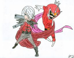 Dante and Viewtiful Joe by AStein35