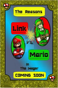 Mario vs. Link in The Wager by taurence