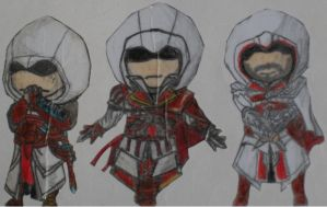 Assassin's creed Chibi by henrydig