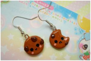 Cookie Earrings by chocowaffle