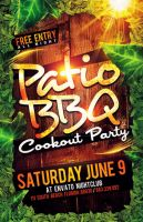 Patio BBQ Party Flyer by Industrykidz