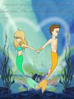 A Siren's Song (Art Trade With Deserteagle24) by Artemis015