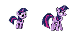 Twilight Sparkle - Past and Present Sprite by Kevfin