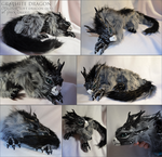 Graphite Dragon Doll by Isvoc