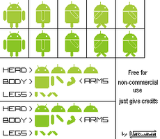 Android Sprites 1 by Nakwada