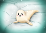Baby Harp Seal by MythicalWolfAngel