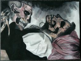 Painting of Gaga n Rick Genest by LynnGommans