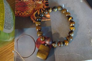 Tiger eye Power Bead Bracelet by TeganIrish