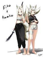 Eiko And Kamiko (Updated power and slight edits) by G-cat