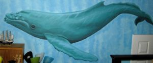 Humpback Whale Mural by WorldsEdge