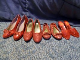 All 4 Types of Ruby Slippers by TheWizardofOzzy