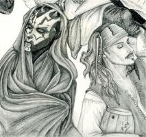 Maul and Jack details by icy-blue-rae