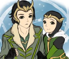 Loki and loki by AviHistten