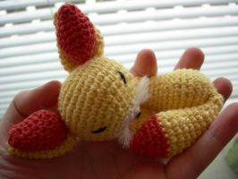 Fennekin pokemon crochet amigurumi by Poolvos