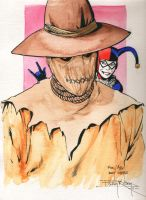 Scarecrow and Harlequin by Astrocat