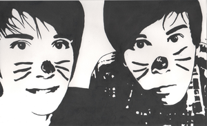 AmazingPhil and danisnotonfire by HitchersTopHat