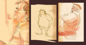 Moleskine:  resting guys by Andres-Blanco
