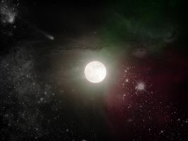 moon space back ground stock by DoloresMinette