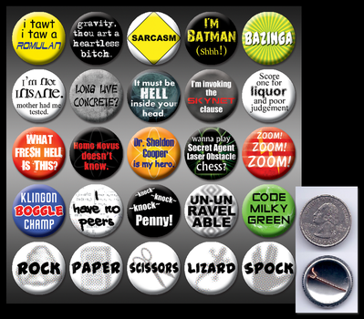 Big Bang Theory 1' buttons by eitanya