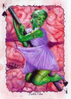 zombie poker sketch card by charles-hall