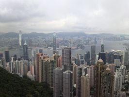 Hong Kong from Victoria Peak 2 by psymonster1974